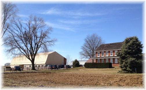 Amish church service on Kraybill Church Road 3/22/15