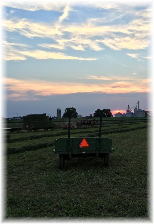 Amish Harvest Sunset, Lancaster County PA 6/18/16