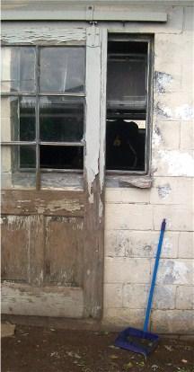Amish milk barn window