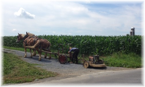 Mower repair in Lancaster County PA 7/18/14
