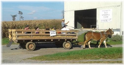 Old Windmill Farm horse-drawn hayride 10/10/17