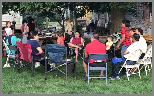 Indian meal on the Old Windmill Farm 8/25/18