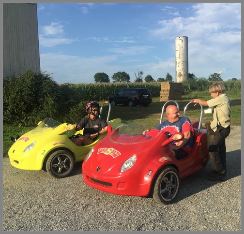 Strasburg scooters on the Old Windmill Farm 8/25/18