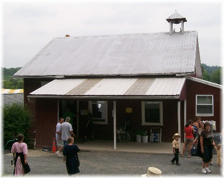 Perry County PA one room Amish schoolhouse