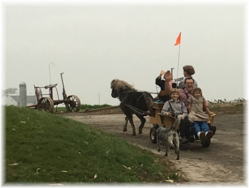 Cart ride with children 12/25/15