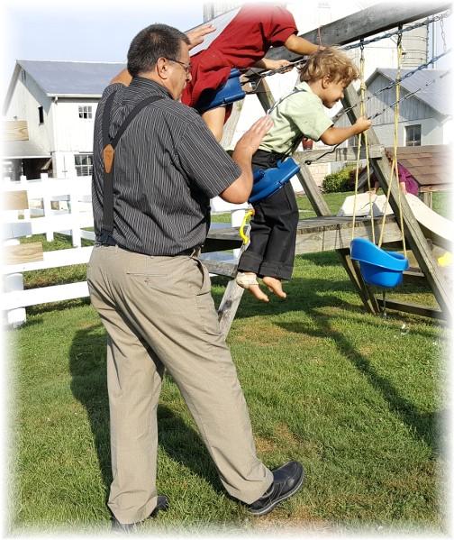 Swinging Amish children 8/25/16