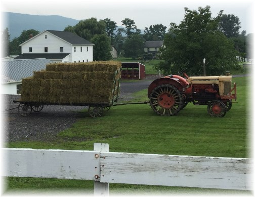Tractor and wagon in Big Valley, PA 7/7/15