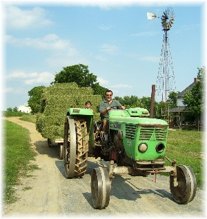 Amish steel-wheeled tractor
