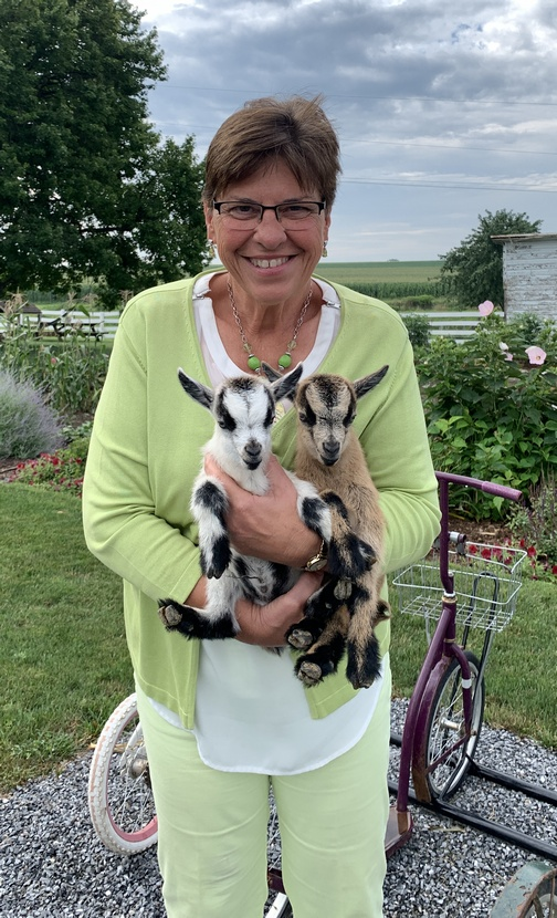 Brooksyne with baby goats