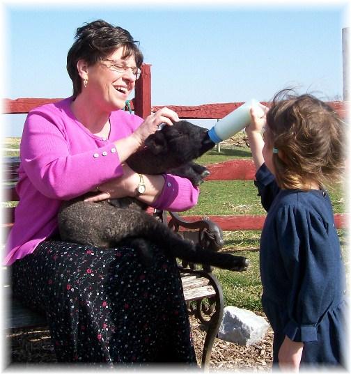Brooksyne feeding lamb 3/13/12