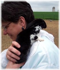 Brooksyne with bunny