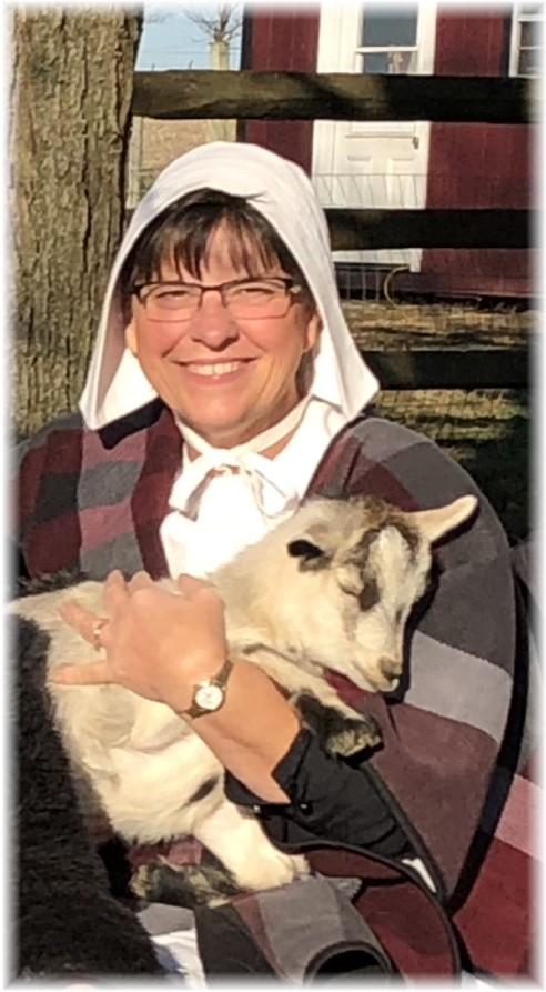 Brooksyne holding Daisy the goat, Lancaster County, PA 11/17/17