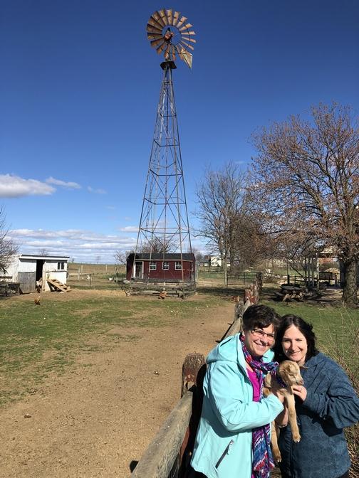 Brooksyne and Marsha with Curious George 3/31/19