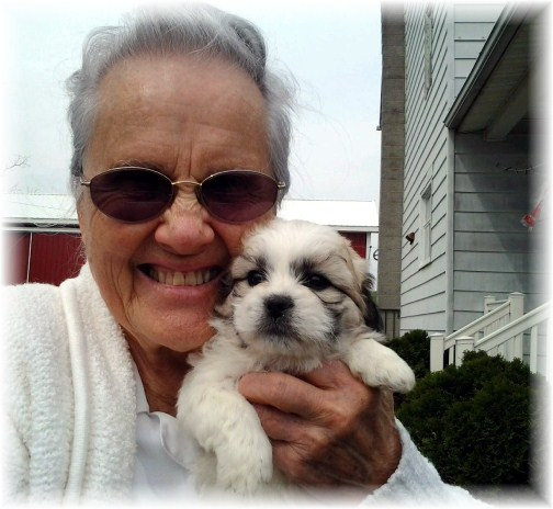 Wilma with puppy 4/15/12