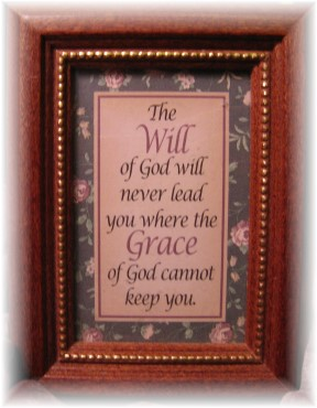 Keeping grace plaque