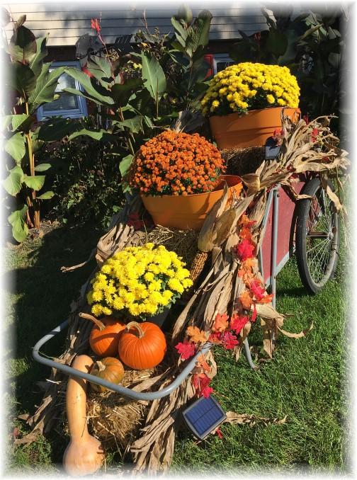 Autumn garden cart