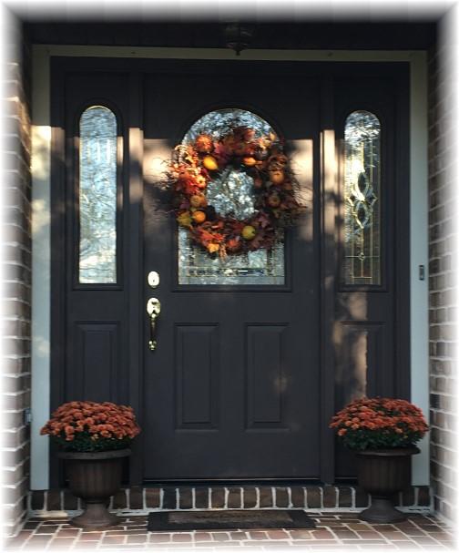Kelly Ave front door 10/26/17