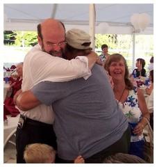 Freinds bear hug
