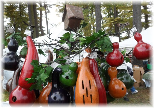Birdhouse gourds at Apple Fesitival