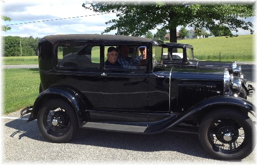 1930 Model A Ford with Jay and Bunny 6/14/14