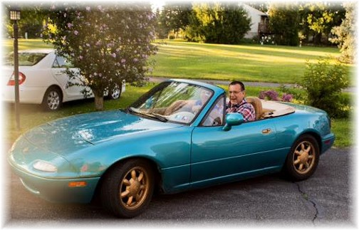 First convertible ride for Brooksyne (Photo by Stephen Meck)