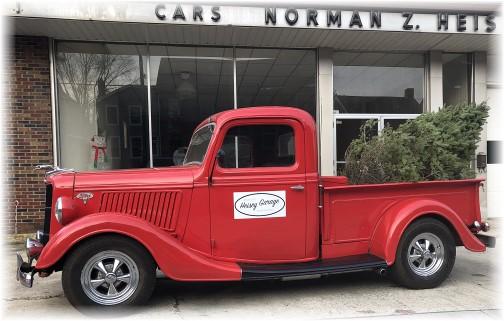 Old truck on Main Street in Mount Joy 12/11/17