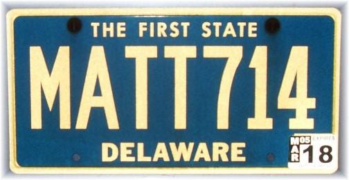 Matthew 7:14 license plate