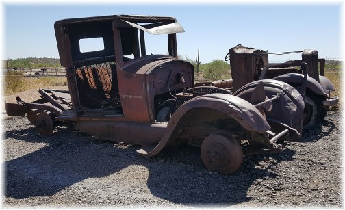 Old cars in Goldfield ghost town, Arizona 7/13/16