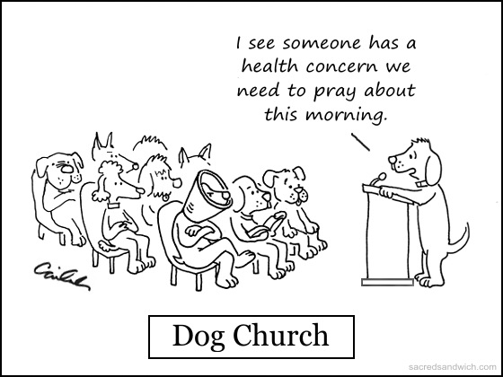 Dog church from the Sacred Sandwich (used by permission)