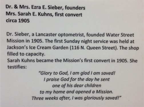 1st Water Street Mission convert
