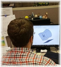 Stephen using CAD