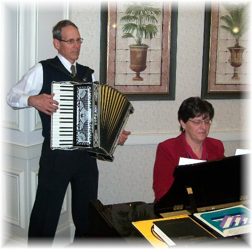 Nursing home ministry, piano and accordian