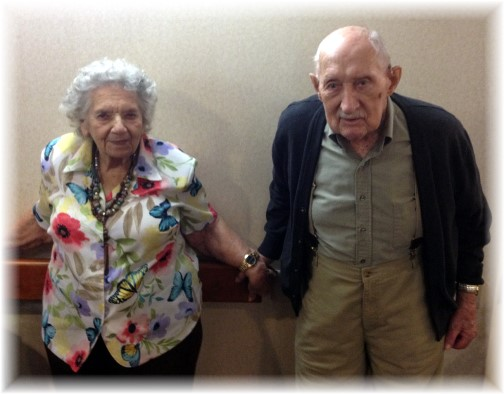 Clarence and Alverta 72nd anniversary 5/11/14