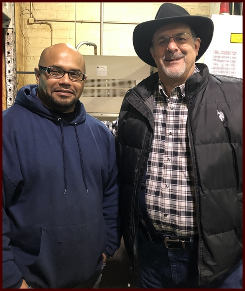 Clarence with Stephen at Smucker Laser 12/13/18