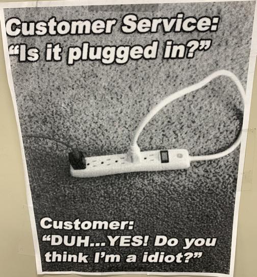 Customer service poster