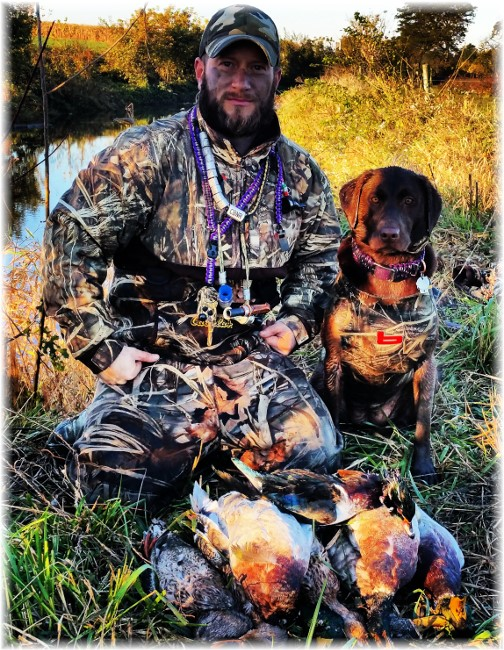Eric with hunting dog