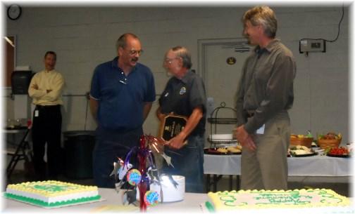 Everett honored at retirement 7/25/13