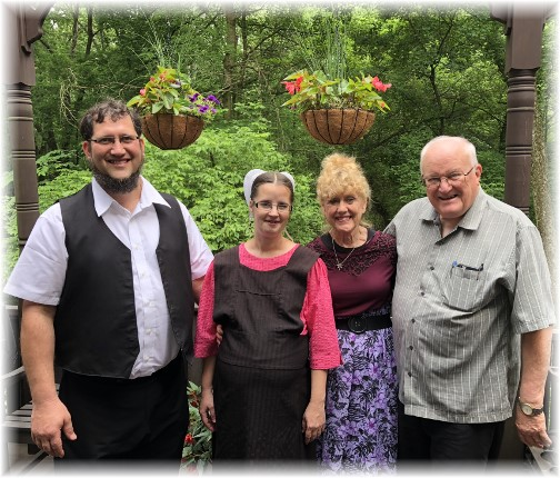 Aaron and Barbie Fisher, Ron and Bonnie Hoover, Convene gathering 6/9/18