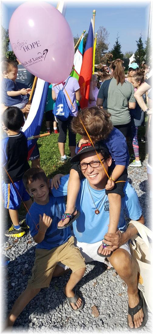 Frank with children 9/16/17