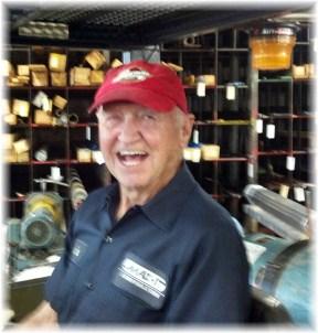 Gene, working joyfully at 88
