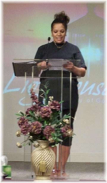 Gesenia giving baptism testimony 5/20/12