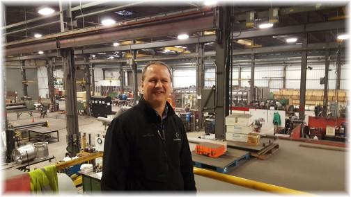 Greg Esh at Goodhart plant 3/29/17