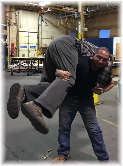Joe Diesel lifting me up