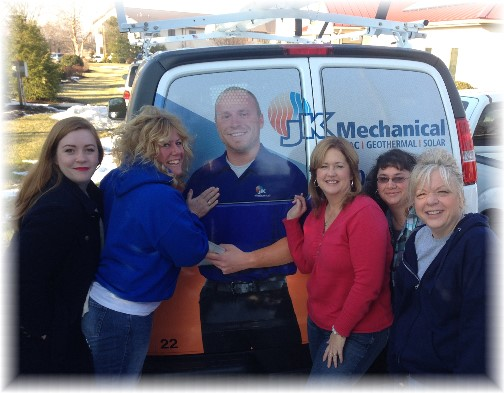 JK ladies with service tech 1/16/15