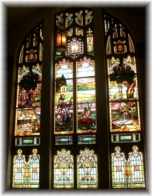 Stained glass in abandoned church