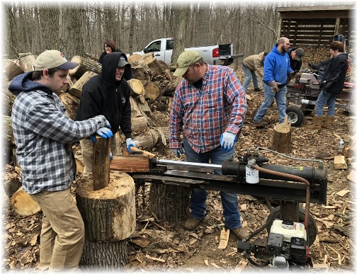 JK workday wood splitters at Black Rock Retreat 4/10/18