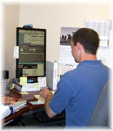 Keith with vertical monitor