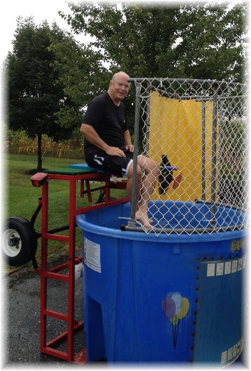 Ken Leaman in dunk tank 9/13/14