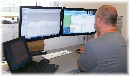 Kenton with dual 30 inch monitors