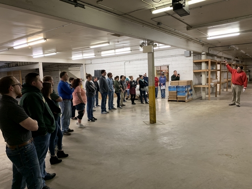 Keith leading Kleen-Rite meeting 4/12/19
